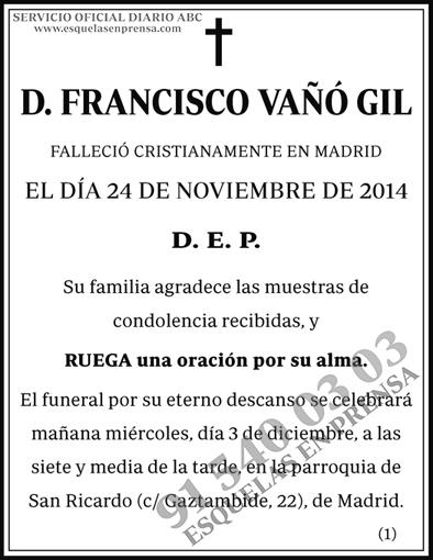 Francisco Vaño Gil
